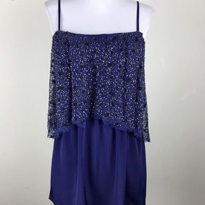 Beaded shift cocktail dress size m